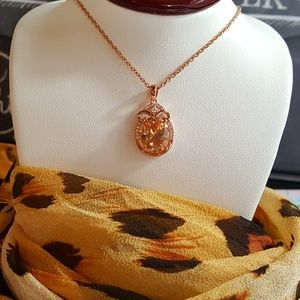 Jewelry - Simulated Champagne Sapphire Scarab Pendant